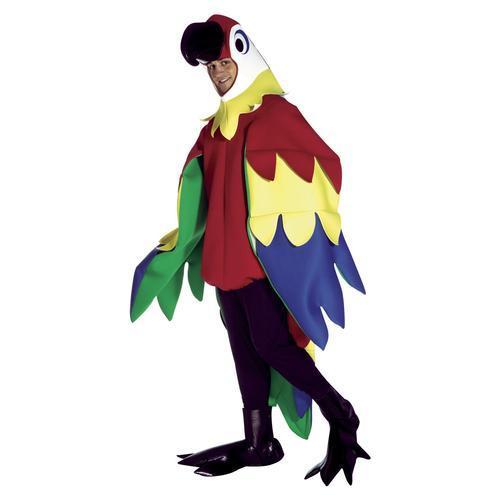 成人标准成人鹦鹉服装-有趣的动物服装提供adult std.