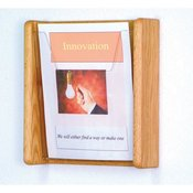 Solid Oak Wall Magazine Rack - Medium Oak Finish